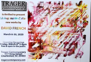 """David's solo exhibition """"Living Inside Color"""" at Trager Contemporary"""